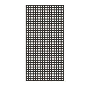 Veranda 4 Ft X 8 Ft White Privacy Square Vinyl Lattice Framed