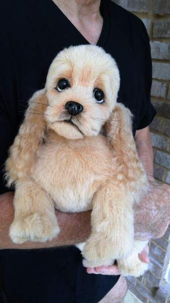 MUFFIN a realistic Cocker Spaniel puppy dog By Brigitte Crowe - Bear Pile