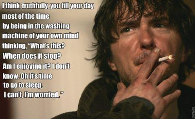 Dylan Moran. Try and see the beauty of his soul. He lays it bare, I assure you. There is great wit and genius in his observations and rhythm.