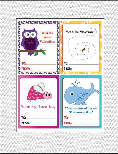 INSTANT DOWNLOAD Set of 4 Valentine's Day by JMWxDigitalDesigns