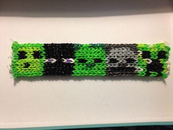 Minecraft rainbow loom bracelet