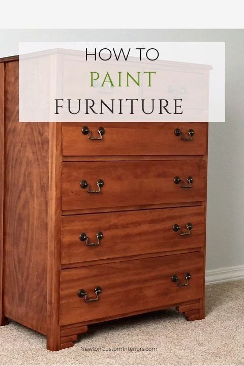 How To Paint Furniture Painting Wood Furniture Diy Furniture Decor Painting Old Furniture