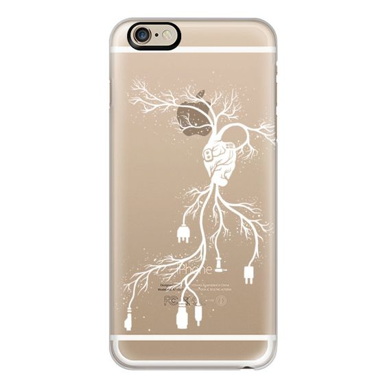 iPhone 6 Plus/6/5/5s/5c Case - Soft Connection Heart ($40) ❤ liked on Polyvore featuring accessories, tech accessories, iphone case, iphone cases, apple iphone cases, slim iphone case and iphone cover case