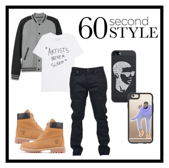 """Untitled #307"" by sarapeloveclub ❤ liked on Polyvore featuring Timberland, L.L.Bean, Yves Saint Laurent, Casetify, men's fashion, menswear, DRAKE, views and 60secondstyle"