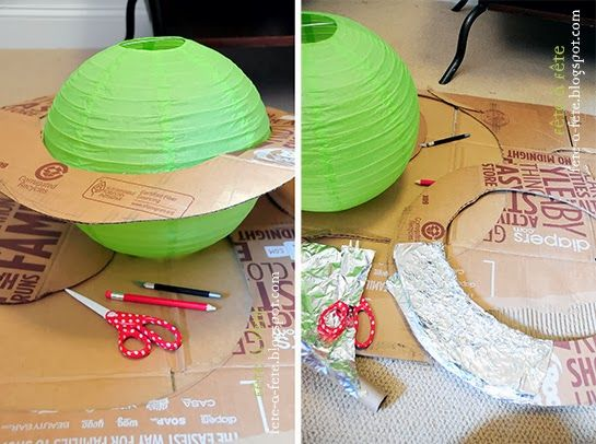 Paper Lantern Planets - Astronaut Party - Preparing to take off on a very special space mission!!by Fête à Fête