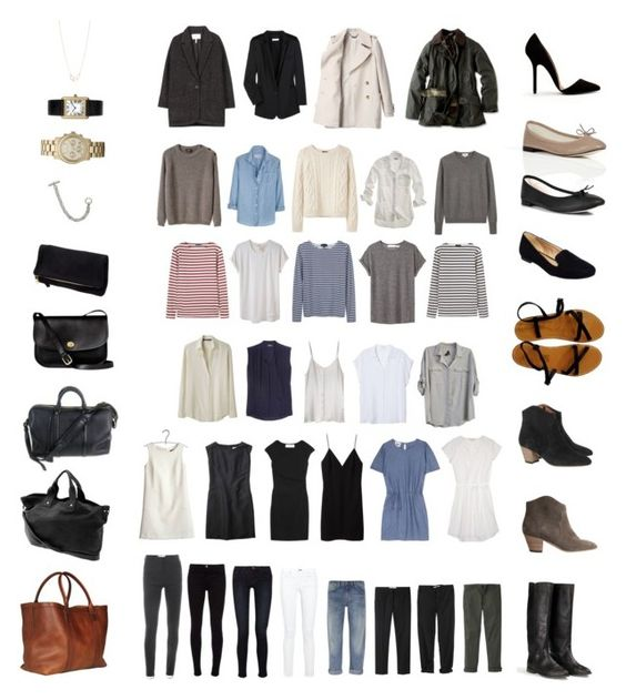 50 Item Capsule Wardrobe by stractstyle on Polyvore featuring мода, Vanessa Bruno Athé, Tara Jarmon, Acne Studios, T By Alexander Wang, Equipment, Madewell, Le Mont St. Michel, A.P.C. and Saint James: