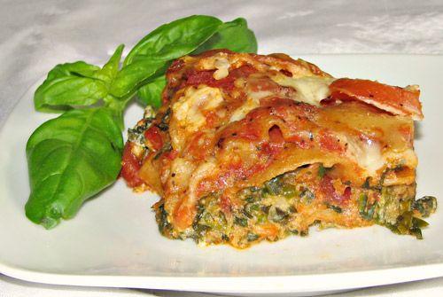 Slow cooker whole grain spinach vegetarian lasagna recipe