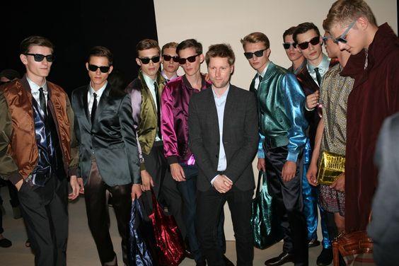 Backstage at Burberry Prorsum Men's Spring 2013