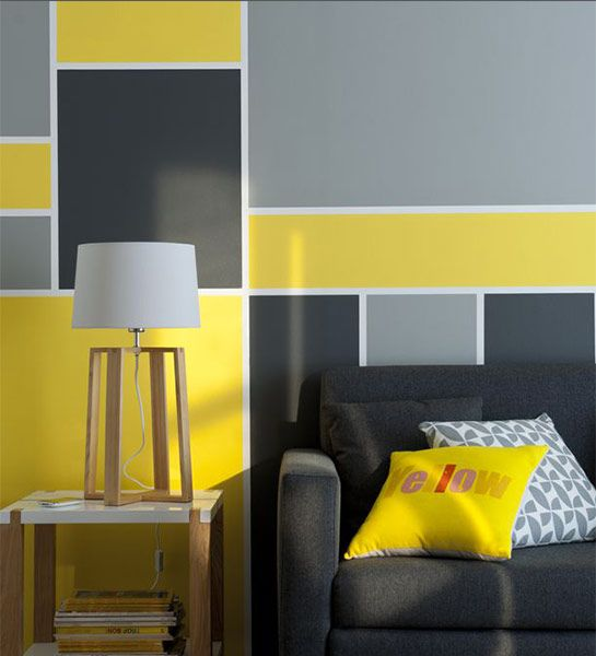 decoration mur couleur differente