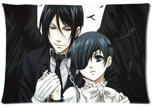 Amazon.com - Japanese Anime Series Pillow Cover Black Butler Two Sides Diy Printed Design Custom Zippered Rectangle Pillow Case 16''x24'' 20''x30'' (20x30 inch, 0B01) -