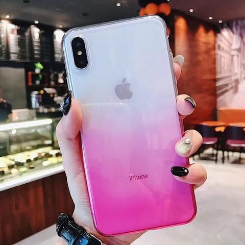 Uslion Clear Soft Phone Case For Iphone 7 8 6 Plus Xr X Gradient