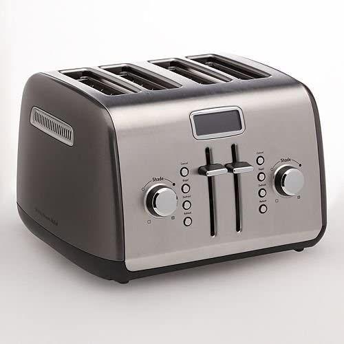New Kitchenaid Kmt422qg 4 Slice Toaster With Manual High Lift Lever And Digital Display Liquid Graphite Appliances Kitchen Aid Toaster Kitchenaid Toaster