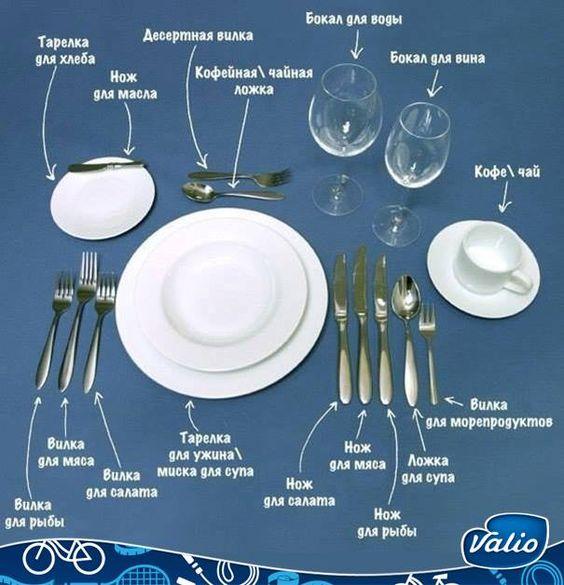 Вы тоже давно хотели разобраться в правилах сервировки стола? Такой порядок расстановки приборов принят во всем мире.