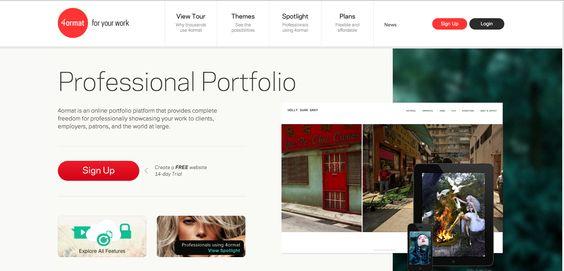 4ormat - minimal, interactive portfolio site creator