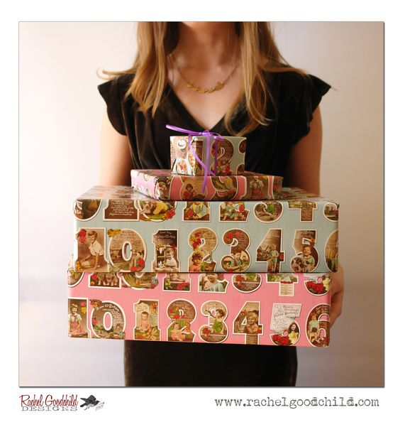 Birthday Numbers gift wrap