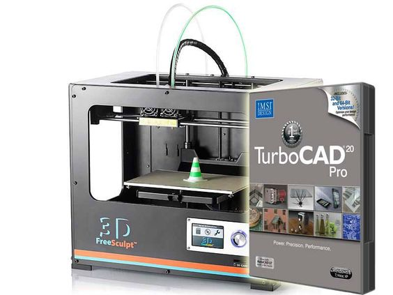 Pack imprimante 3D FreeSculpt EX 2+ logiciel CAO TurboCad 20 Pro | Pearl.fr
