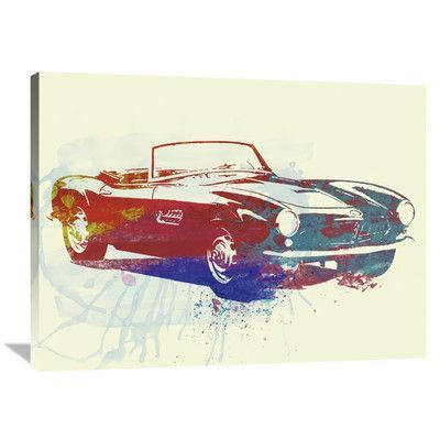Naxart 'BMW 507' Painting Print on Wrapped Canvas Size: