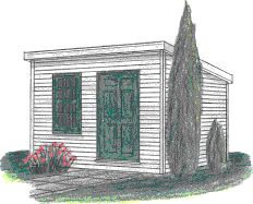 THE ESSEX STORAGE SHED PLAN 8X8 10X8 12X8 by Just Sheds Inc.
