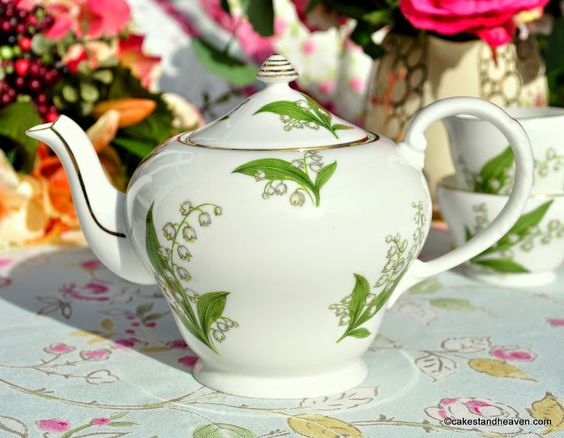 Royal Grafton Lily of the Valley Teapot