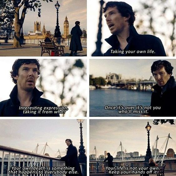 Sherlock - Series 4 - The Lying Detective Very emotional and deep considering Sherlock is the one saying this. He knows he hurt John by the Fall. #TLD: