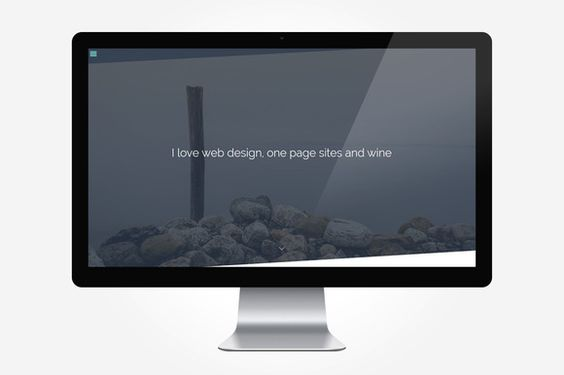 Pure - One Page Personal Portfolio by vsthemes on Creative Market