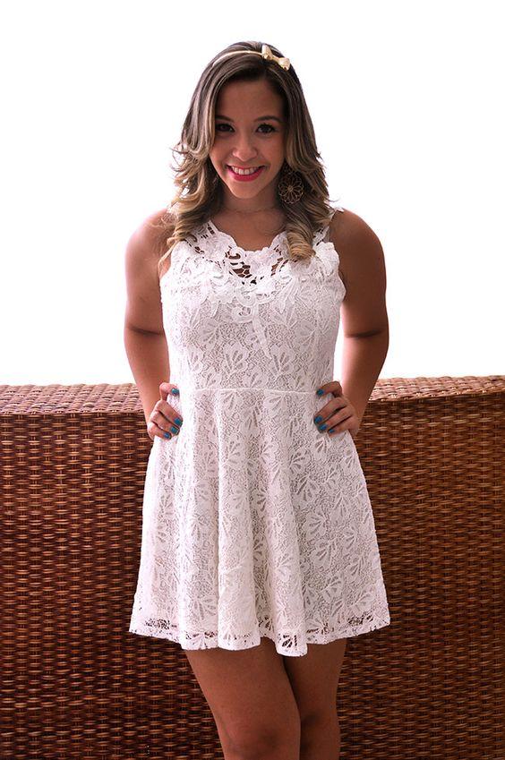 Réveillon / white dress/ renda