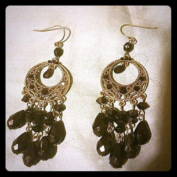 Black & Silver Chandelier earrings   Abdominales, Candelabros y ...