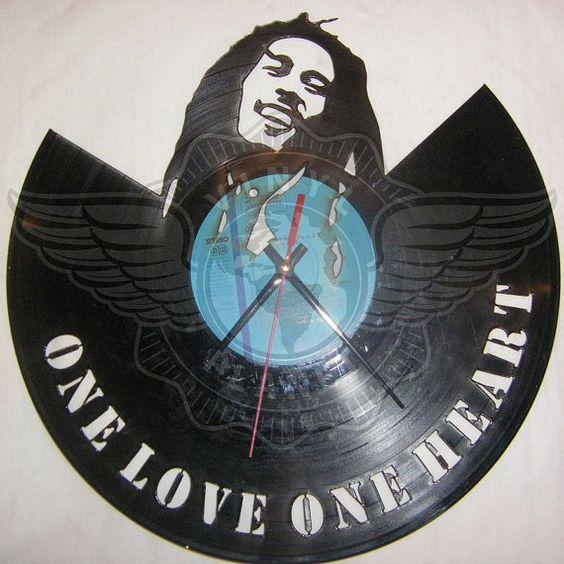 Vinyl Wall Clock BOB MARLEY