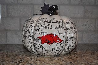 E3 Creations: DIY: Arkansas Razorback School Spirit Pumpkins