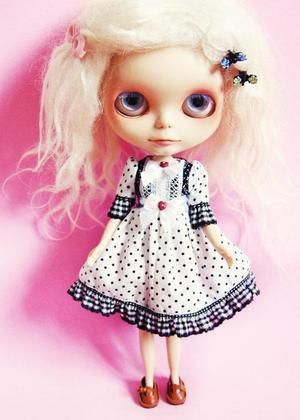 White Polka Dot Dress ~ Doce Pera: