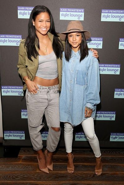 Cassie And Karrueche Tran Attend The Kari Feinstein's Pre-Golden Globes Style Lounge Event http://bit.ly/1ABJIld