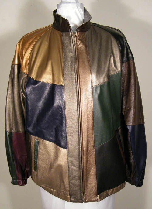 ROCCO D'AMELIO MULTI COLOR FINE QUALITY NAPPA LEATHER BOMBER JACKET, men designer leather Jackets