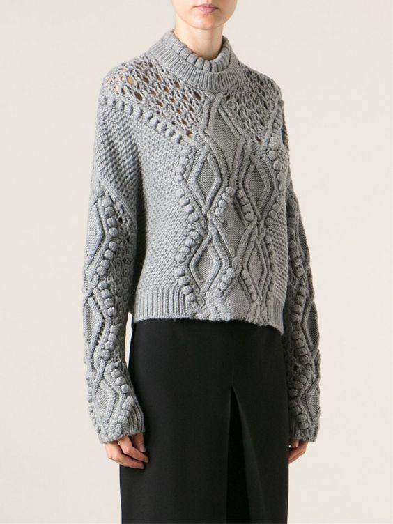 3.1 Phillip Lim Cable Knit Jumper - Stefania Mode - Farfetch.com: