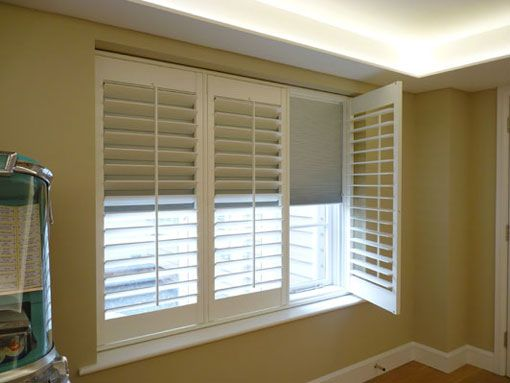 Ideal Window Coverings or Blinds Wooden shutter blinds are ideal