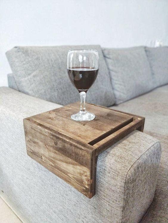 Two Sofa Table Tray Armrest Table Phone Ipad Tablet Mug Arm Rest Table Sofa Side Table Sofa Arm Table