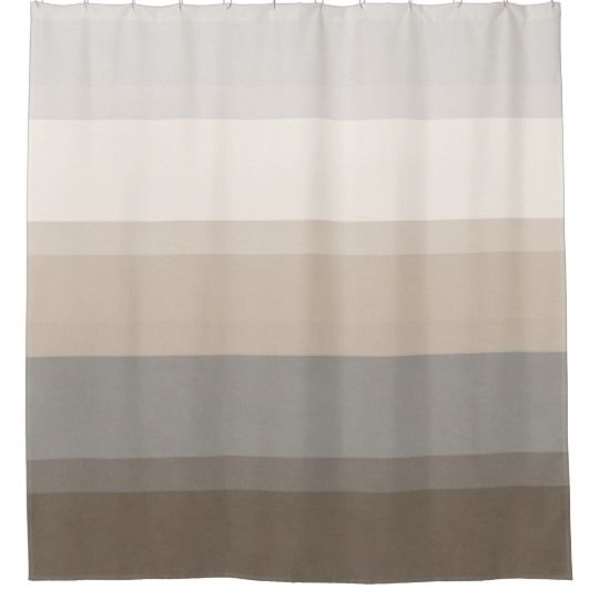 Chic Taupe Cream And Grey Striped Shower Curtain Zazzle Ca