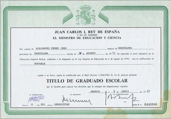 1987-Graduado-Escolar-Certificado-Estudios-Escuela-EGB-AlejandroPI-Alejandro-Perez-Irus