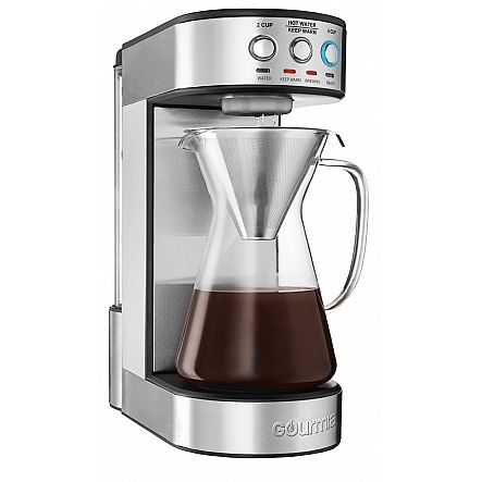Gourmia Gcm4900 Coffee Maker Electric Pour Over Brewer 5 Minute Quick Brew Glass Carafe Stainl Pour Over Coffee Maker Electric Coffee Maker Coffee Maker