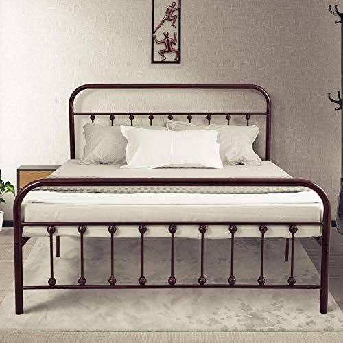 Amazing Offer On Ambee21 Vintage Queen Metal Bed Frame Headboard