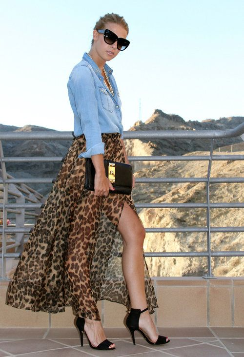 Ignore the see through skirt, the other 32 Street Style Look With Leopard Print Details are cute Lauren!