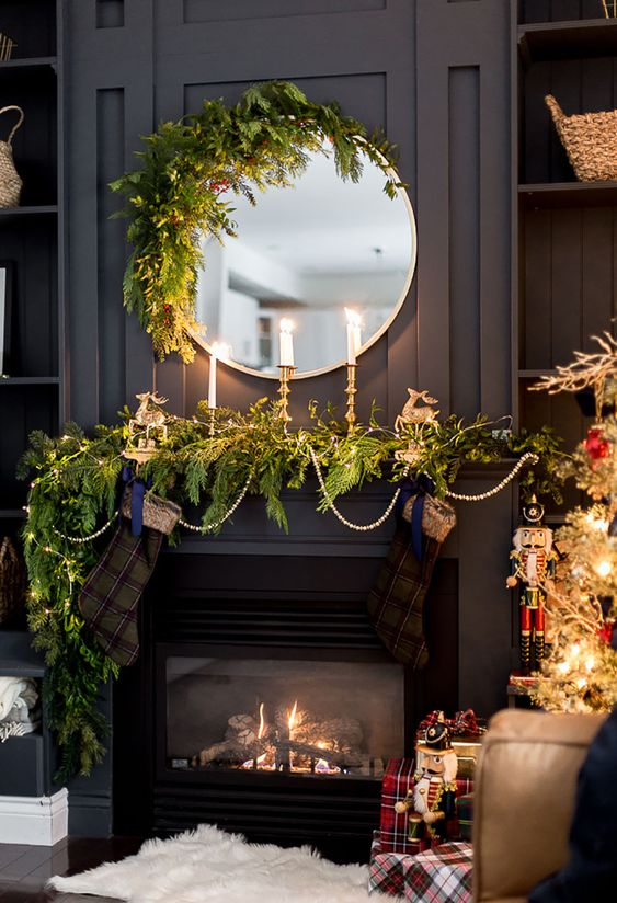 Best of Farmhouse Christmas Mantels awaits you! You are going to be totally inspired by the creativity your are about to see! Tons of Ideas you will love!