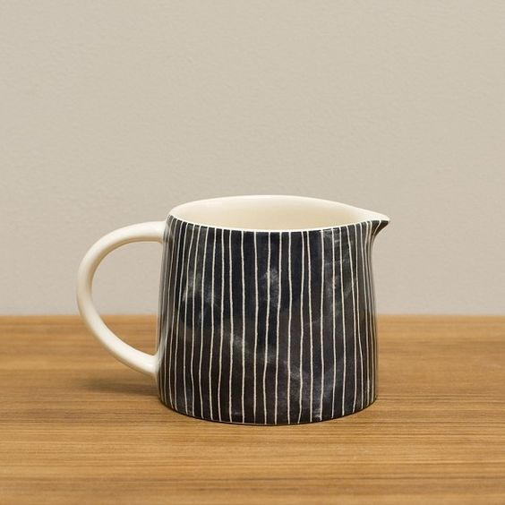 cloth & goods - pinstripe earthenware jug s