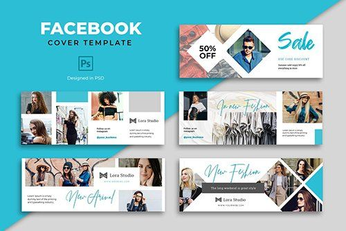 Facebook Fashion Cover Template Psd Free Download Facebook Cover Template Cover Template Social Media Template