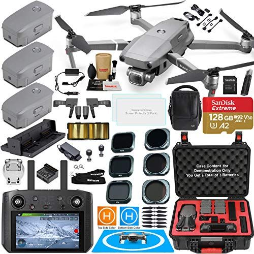 Dji Mavic 2 Pro Drone Quadcopter With Dji Smart Controller W Touch Screen Display And Fly More Kit Bundle With 3 Gift Options Showcase Touch Screen Display Mavic Drone Quadcopter