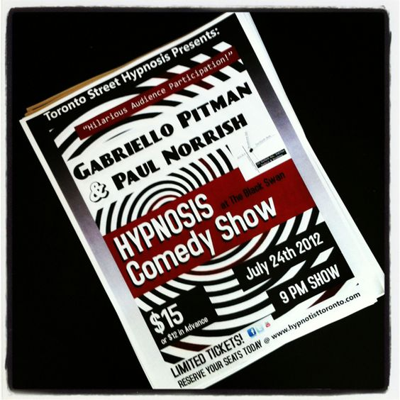 #comedy #hypnosis #show in #toronto this July! http://www.hypnotisttoronto.com