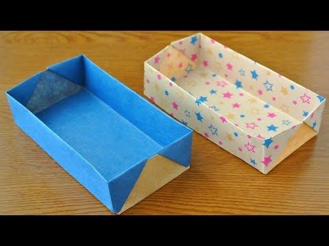おりがみ かんたんな長方形の箱 の作り方 Origami Easy Rectangular Box Youtube 箱の作り方 手作り ブックカバー 折り紙 収納