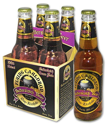 Flying Cauldron Butterscotch Beer (6 Pack) | Off-brand butterbeer! Can find at Whole Foods and Cracker Barrel!