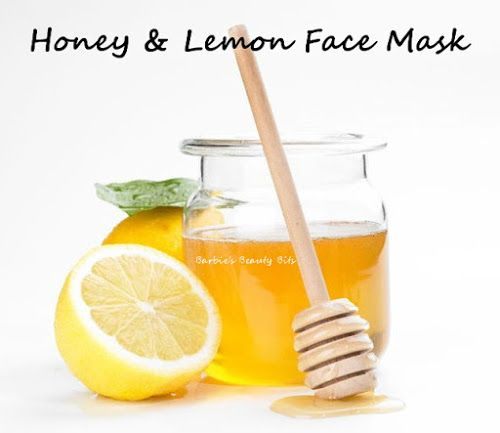 A lemon and honey face mask