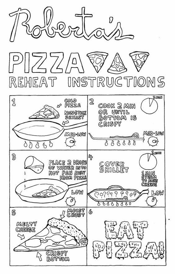Si eres de las personas que les encanta pedir pizza pero siempre dejan la mitad 'pal perro', tienes queaprender a recalentarla como un experto. La idea es que no te comas un tolete congelado de masa