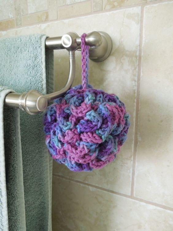 Crochet bath puff - free pattern, won\'t fall apart like the net ones ...
